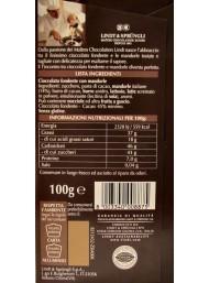 Lindt - Dark Chocolate & Almonds - 100g