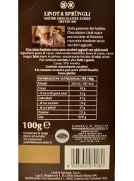 Lindt - Tavoletta Fondente - Senza Zuccheri Aggiunti - 100g