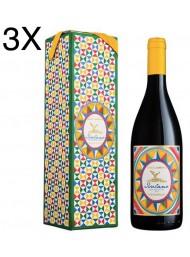 (3 BOTTLES) Donnafugata - Isolano 2019 - Dolce & Gabbana - Etna Bianco DOC - Gift Box - 75cl