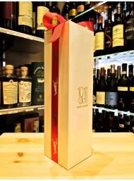 (10 GIFT BOXES) single bottles with ribbon satin